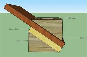 tools - Best method for drilling a larger diameter hole at