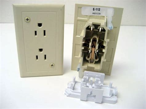 Ivory Self Contained Toggle Light Switch With Plate