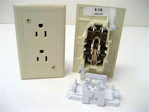E-111 Ivory Self-contained Toggle Light Switch With Plate