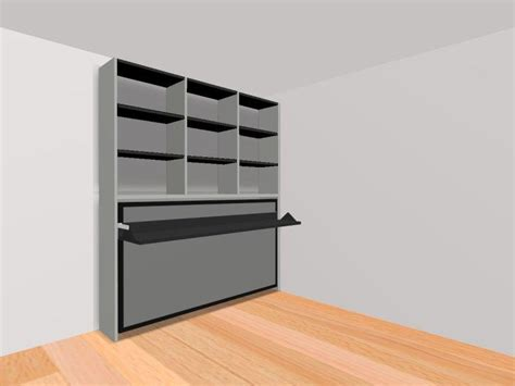lit escamotable bureau intégré armoire lit transversale ares avec bureau integre