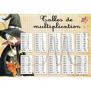 table de multiplication a imprimer format a4