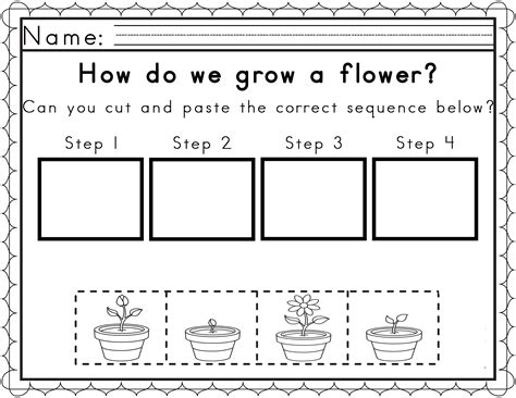 Worksheets For Sequencing In Spring  Obc General Teaching Ideas  Worksheets, Kindergarten
