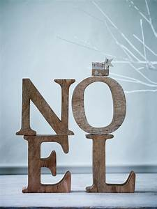 My christmas styling for cox cox sania pell for Wooden noel letters