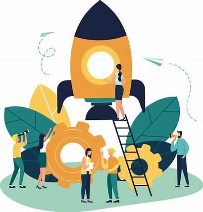 Illustration Teamwork Rocket Illustrations Illustrator Interactions Reader