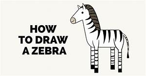 How to Draw a Zebra - Really Easy Drawing Tutorial