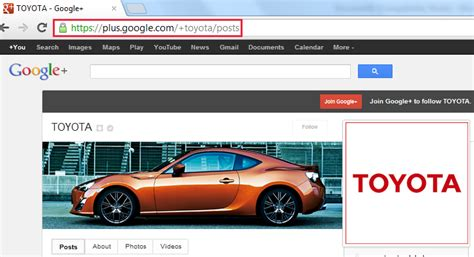 ok google toyota google plus create vanity url for your page and profile