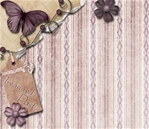 Purple Vintage Butterfly Twitter Background - Lavendar ...