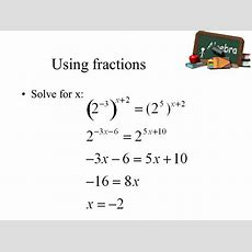 Solving Exponential And Logarithmic Equations  Ppt Video Online Download