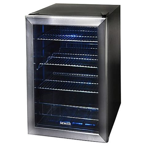 NewAir 84 Can Beverage Cooler in Stainless Steel   Bed