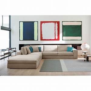 le canape d39angle italien avec chaise longue cuir ou tissu With tapis de course avec dimension d un canapé d angle