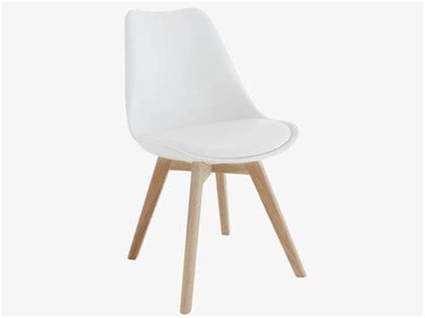 compact and comfortable the jerry white dining chair is a