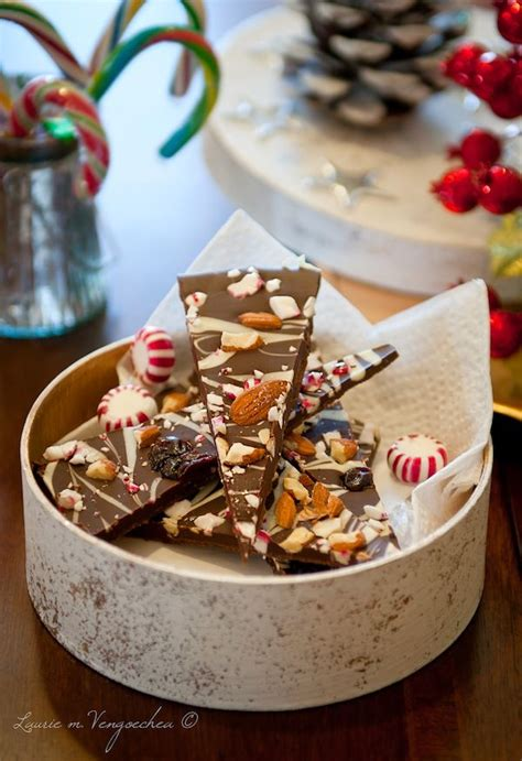 haute christmas dessert dalla cucina peppermint chocolate cherry almond bark haute dishes chocolate cherry