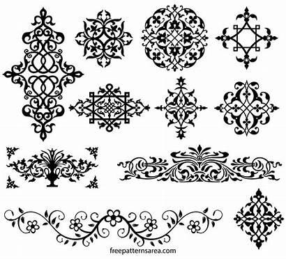 Vector Floral Ornamental Designs Damask Decoration Ornament