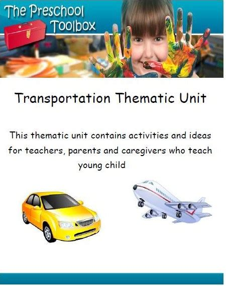 preschool and kindergarten themes and lesson plans the 186 | Transportation Theme