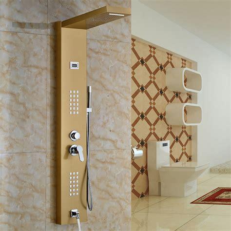 Vernal Gold Finish Massage Shower Panel System   Funitic