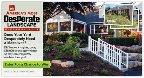 50000 Backyard Makeover by Network Sweepstakes Central Outdoor Projects Backyard