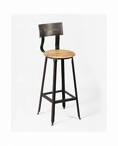 Tabouret Bar Bois : tabouret de bar en bois et acier loft ~ Teatrodelosmanantiales.com Idées de Décoration