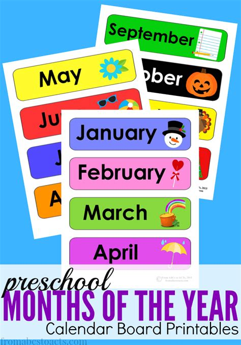 home preschool calendar board from abcs to acts 879 | Months
