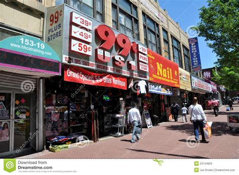 Nyc Jamaica Avenue Stores Editorial Image Image Of Store
