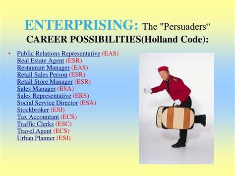 holland career interest areas salisbury university