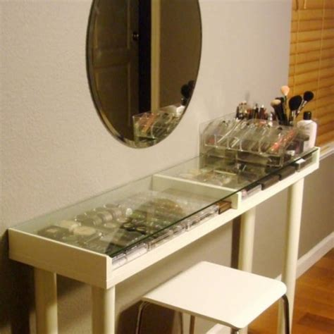 Glass Vanity Makeup Table by 51 Makeup Vanity Table Ideas Ultimate Home Ideas