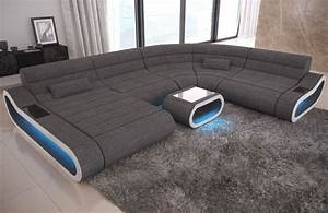 Big Sofa Xxl U Form : big sofa concept als polster bigsofa xxl mit led beleuchtung ~ Bigdaddyawards.com Haus und Dekorationen