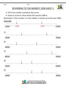 Rounding to Nearest 100 Number Line Worksheet