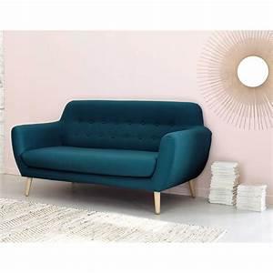 Canapé D Angle Bleu Pétrole : canap style scandinave 2 3 places bleu p trole modern design pinterest canap vintage ~ Teatrodelosmanantiales.com Idées de Décoration