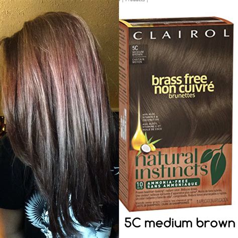 instincts hair color reviews clairol instincts 5c medium brown hair color