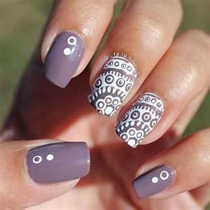 35 Gray Nail Art Designs   Nail polish combinations Gray nails and Grey nail polish