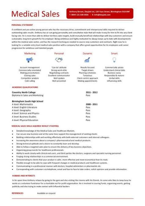 pharmaceutical sales entry level resume