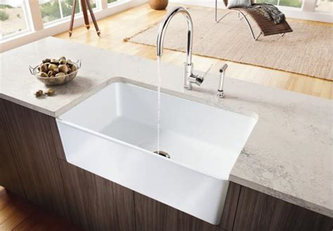 Best Farmhouse Sink Material by Blanco Cerana Apron Front 30 Blanco