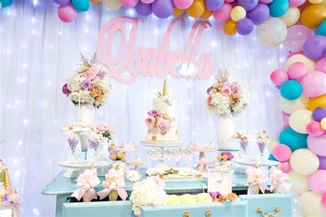 karas party ideas mystical  magical unicorn birthday