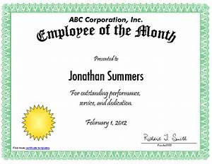 employee of the month certificate template with picture - employee of the month certificate template driverlayer