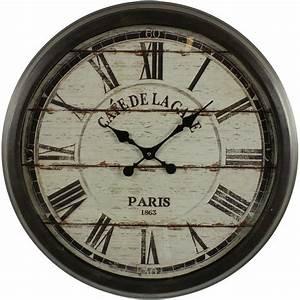 Grosse Pendule Murale : grande horloge ancienne murale cafe de la gare cm with ~ Teatrodelosmanantiales.com Idées de Décoration