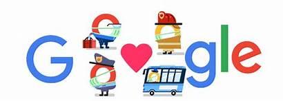 Coronavirus Google Helpers Doodle Thank Covid Doodles