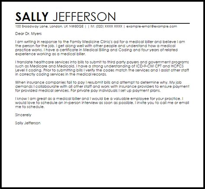 cover letter exles for billing