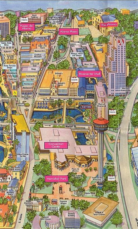 up of the river center mall map of alamo plaza