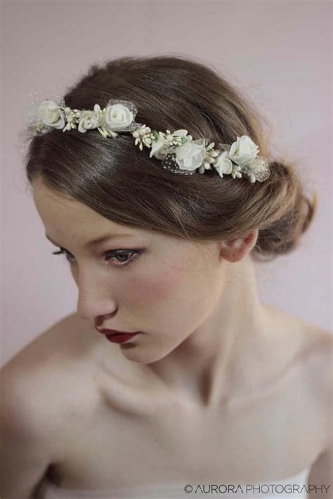 wedding hair wreathivory flower crownflower wreath