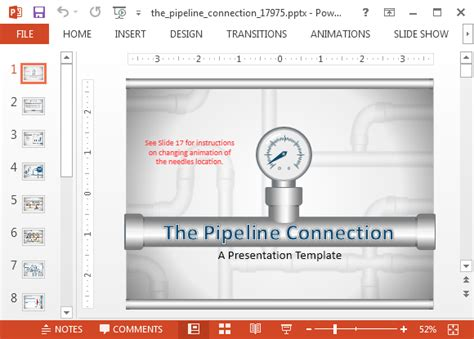 connections excel template animated pipeline connection powerpoint template