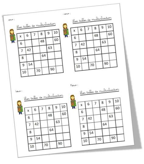 exercices sur les tables de multiplication ce2 les tables de multiplication trendyyy