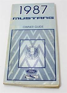 1987 Ford Mustang Owners Manual User Guide Reference