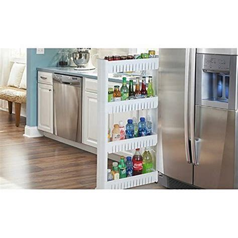 Slim Storage Food Cleaning Supplies Pantry Cabinet