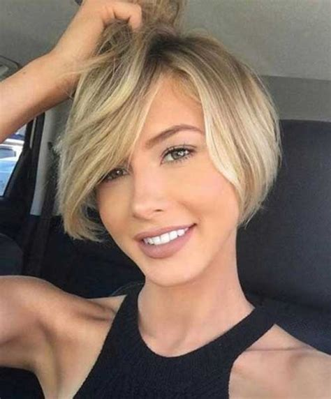 short haircuts for round face shape