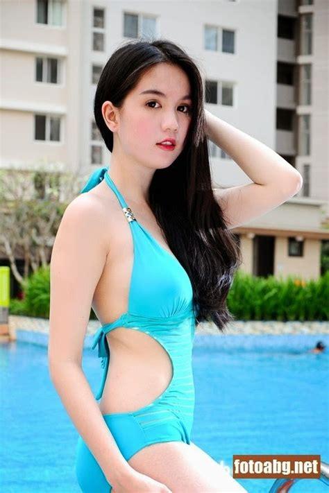 Foto Gadis Bugil Model Korea Pakai Bikini Foto Memek Abg