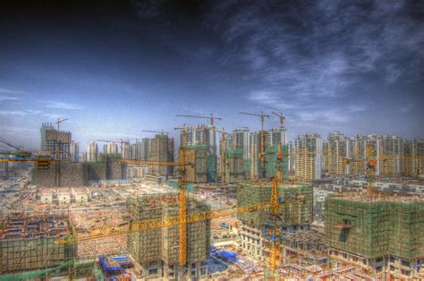 Tianjin Construction Site.   This was the view out of a ...