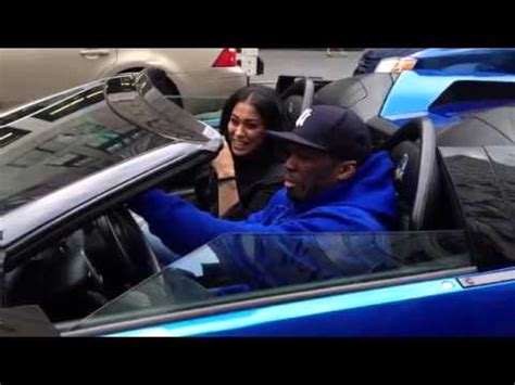 cent spotted riding  nyc   blue lambo youtube