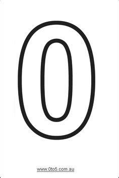 printable number  template printable numbers large
