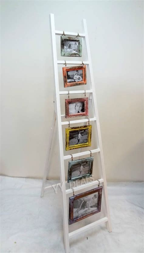 french provincial wooden colorful photo frame display