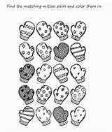 Coloring Winter Mitten Printable Mittens Preschool Scarf Sheet Worksheets Kindergarten Printables Preschoolers Worksheet Clothes Moufle Sheets Activities Clipart Match Popular sketch template